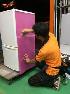 冷蔵庫 カスタム (特殊フィルム ラッピング)