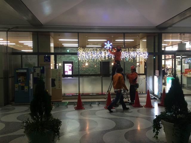シルクセンターにイルミネーション飾りました