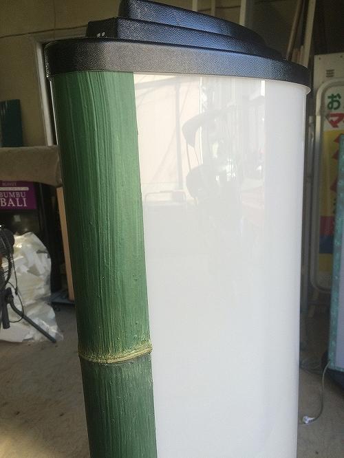 [創作看板] スタンド看板に今度は竹の質感を表現しました!_3